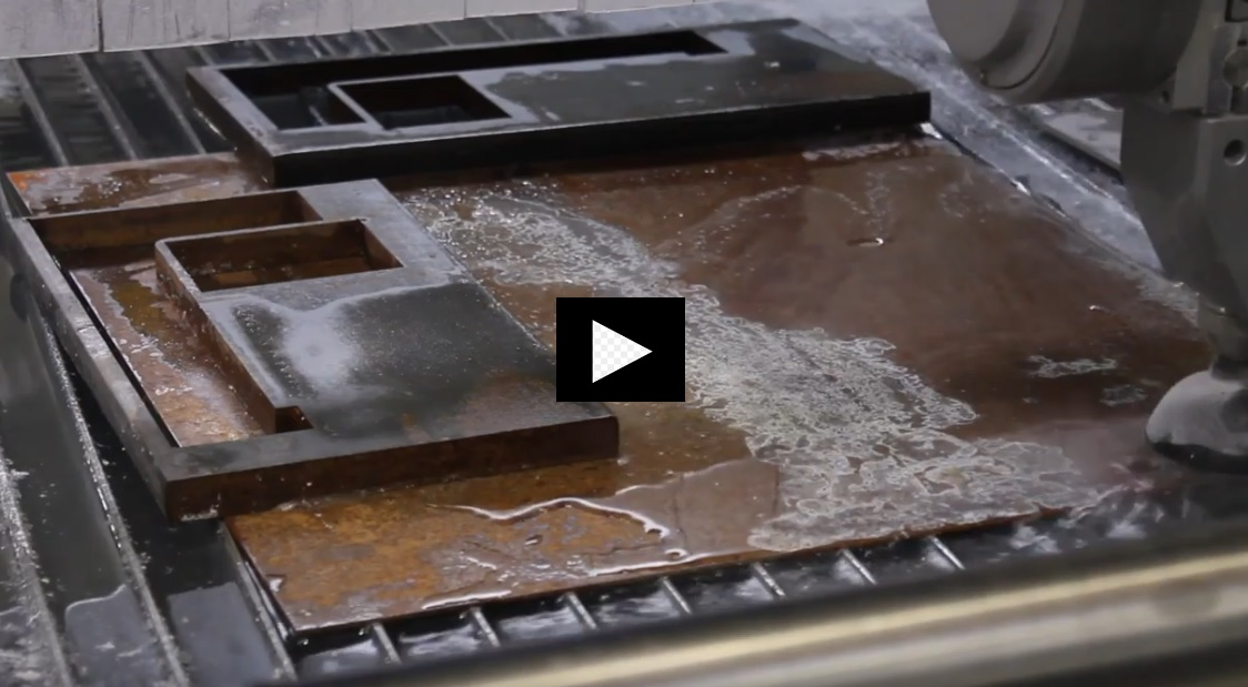 Video water jet cutting